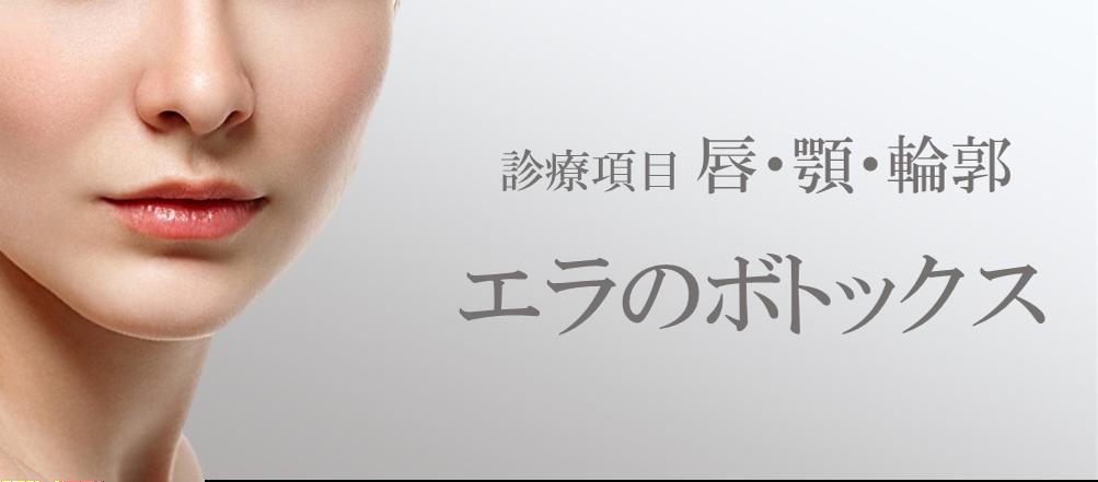 診療項目:唇・顎・輪郭 エラのボトックス