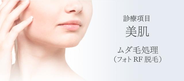 ムダ毛処理(フォトRF脱毛)